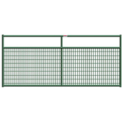 """Behlen Country Wire-Filled 20 Gauge Steel Gate 116"""" Usable Length, 120""""L x 1-5/8""""W x 50""""H, Green"""