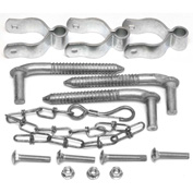 "Behlen Country Three 5/8"" Diameter x 6"" Screw Hooks and Three 1-5/8""W Hinge For 1-5/8""W Behlen Gates"