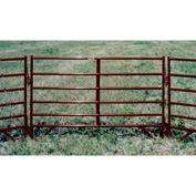"""Behlen Country 16 Gauge Medium-Duty Corral Panel 116"""" Usable Length, 120""""L x 1-5/8""""W x 50""""H, Red"""