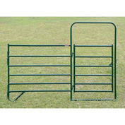 """Behlen Country 16 Gauge Entrance Panel W/4' Gate 116"""" Usable Length, 120""""L x 1-5/8""""W x 84""""H, Green"""