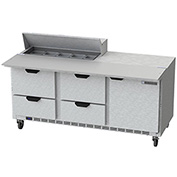 "Food Prep Tables SPED72 Elite Series Cutting Top w/ Drawers, 72""W - SPED72-10C-4"