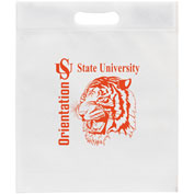 Custom Bag-Non-Woven Die Cut-Large Polypropylene, 13W x 15H x 3, Screen Print