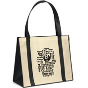 Custom Bag-Del Mar Non-Woven Polypropylene Tote, 18W X 8 X 15H, Screen Print