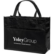Custom Bag-Couture Gloss Laminated Non-Woven Tote, 16W X 6 X 12H, Screen Print
