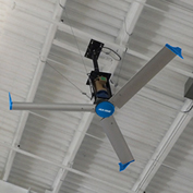 Blue Giant BGF3-0618-323-3 Falcon III HVLS Fan, 6 Ft. Dia., 1 HP, 230V, 3PH, w/Mounting Equipment