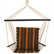 Bliss Metro Hammock Chair, Calista Cabernet Stripe