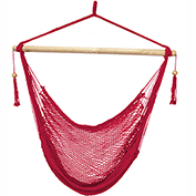 Bliss Island Rope Chair, Red