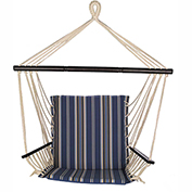 Bliss Reversible Metro Hammock Chair, Oceanview Stripe