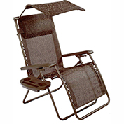 Bliss Deluxe Gravity Free Recliner w/ Covered Bungee, Brown Jacquard