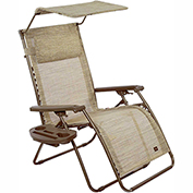 Bliss Deluxe Gravity Free Recliner w/ Covered Bungee, Sand
