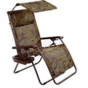 Bliss Deluxe Gravity Free Recliner w/ Covered Bungee, Fern Jacquard