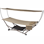 Bliss Stow-EZ Portable Hammock & 4 pt. Stand w/ Canopy, Sand
