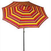 Bliss 9' Market Polyester Outdoor Umbrella, Crank & Tilt, Sun Stripe