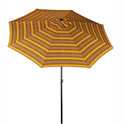 Bliss 9' Market Polyester Outdoor Umbrella, Crank & Tilt, Calista Stripe