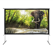 "HamiltonBuhl Freestanding Projector Screen with Case - 138"" Diagonal - Folding Frame - HDTV Format"