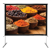 "HamiltonBuhl Freestanding Projector Screen with Case - 120"" Diagonal - Folding Frame - Video Format"