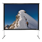 "HamiltonBuhl Freestanding Projector Screen with Case - 135"" Diagonal - Folding Frame - Video Format"