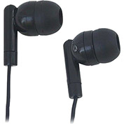Silicone Ear Bud Headphones, Black