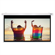 "HamiltonBuhl Electric Projector Screen - 100"" Diagonal - HDTV Format - White Frame"