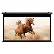 "HamiltonBuhl Electric Projector Screen - 120"" Diagonal - HDTV Format - Black Frame"