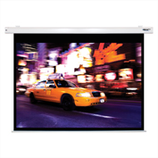 "HamiltonBuhl Electric Projector Screen - 100"" Diagonal - Video Format - White Frame"