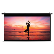 "HamiltonBuhl Electric Projector Screen - 150"" Diagonal - HDTV Format - Black Frame"