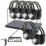 HamiltonBuhl 6-Station Wireless Listening Center w/ Headphones, Bluetooth® Transmitter & Rack