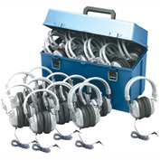 HamiltonBuhl Lab pack w/ 24 HA7 Headphones in Large Carry Case