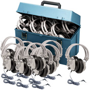 HamiltonBuhl Lab pack w/ 24 SC7V Headphones in Large Carry Case