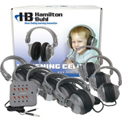 HamiltonBuhl Listening Center, 8 Station Jackbox, Deluxe Headphones w/ Laminated Carry Box