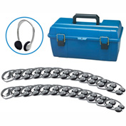 HamiltonBuhl Lab Pack, 24 HA2 Personal Headphones in a Carry Case