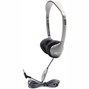 HamiltonBuhl SchoolMate On-Ear Stereo Headphone w/ Leatherette Cushions & in-line Volume