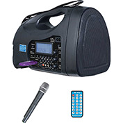 PA System, 65 Watt, Portable, USB, SD, FM, MP3 w/ Hand Held Mic