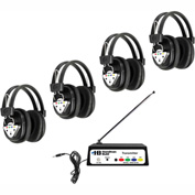 HamiltonBuhl Wireless Listening Center, 4 Station w/ Headphones & Bluetooth® Transmitter