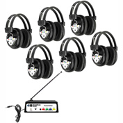 HamiltonBuhl Wireless Listening Center, 6 Station w/ Headphones & Bluetooth® Transmitter
