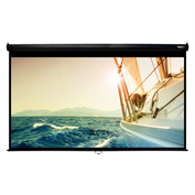 "HamiltonBuhl Manual Pull Down Projector Screen - 120"" Diagonal - HDTV Format - Black Frame"