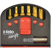 Felo® 07157 51923 Swift Box Universal 6 Pc Bits & Magnetholder, Slotted, Torx, Phillips