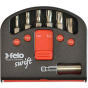 Felo® 07157 51925 Swift Box 6 Pc Tin Bits And Magnetholder, Torx & Phillips