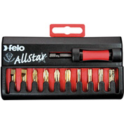 Felo® 07157 53525 Allstar Challenger 10 Pc Diamond Coated Bit Set, Slotted, Phillips, Torx