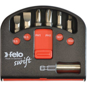 Felo® 07157 53535 Swift Box Industry Set 6 Pc Bits & Magnetholder, Slotted, Phillips, Square