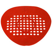 Big D Flat Urinal Screen - Cerise (Cherry)/Red - 652