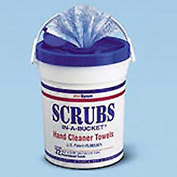 SCRUBS® Premoistened Hand Cleaner Towels, 10-1/2 x 12-1/4, 72 Per Bucket - ITW42272EA