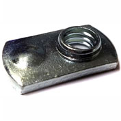 M10 Weld Nut , Rectangular With Four Projections, Steel Plain, Pkg of 100, Buckeye PNM 040616