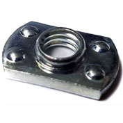 M8 X 1.5-6H Weld Nut Rectangular With 4 Projections, Steel Plain, Pkg of 100, Buckeye QNM 10026