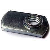 M4 X 0.7-6H Weld Nut Single Tab Spot, Steel Plain, Pkg of 100, Buckeye SNM 04016