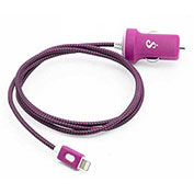 BT Saphire PwrMate Car Charger with Lightning Connector - Pink