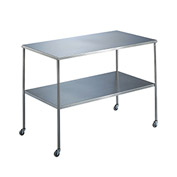 "Blickman 7832SS Howard Instrument Table with Shelf, 36""L x 20""W x 34""H"