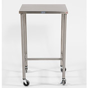 "Blickman 7840SS Sawyer Instrument Table with H-Brace, 20""L x 16""W x 34""H"