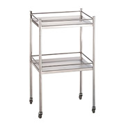 "Blickman 7852SS Allen Two Shelf Utility Cart, 20""L x 16""W x 34""H"
