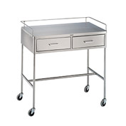 "Blickman 7856SS Crescent Utility Table with H-Brace, 36""L x 20""W x 34""H"